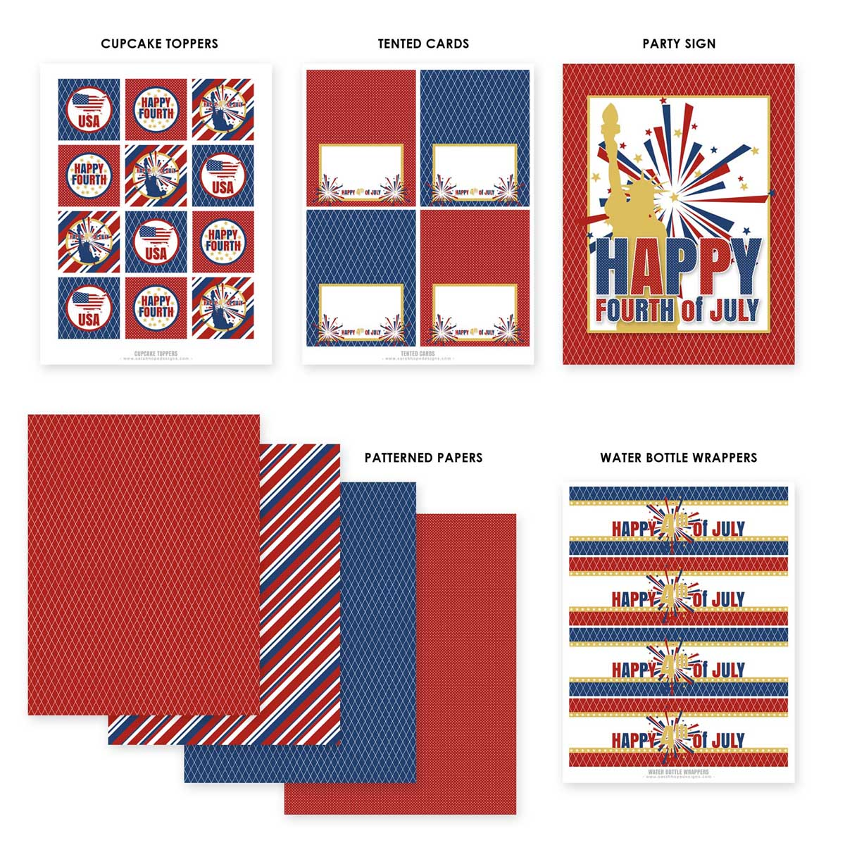 Free July 4th Printables From Sarah Hope Designs