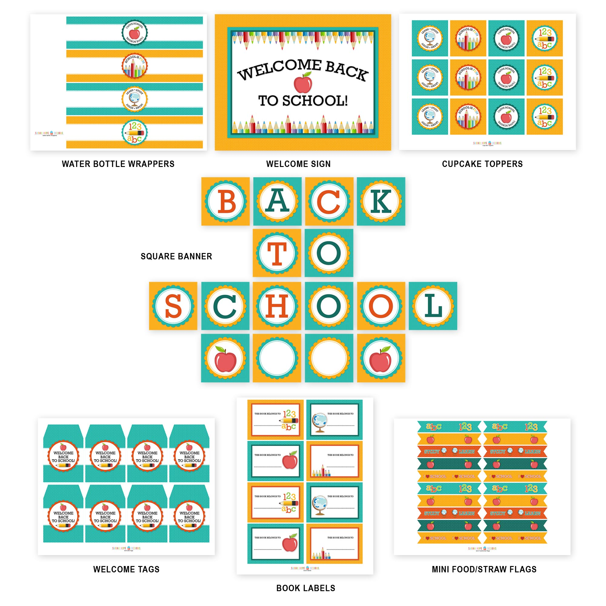 Free Back To School Party Printables From Sarah Hope