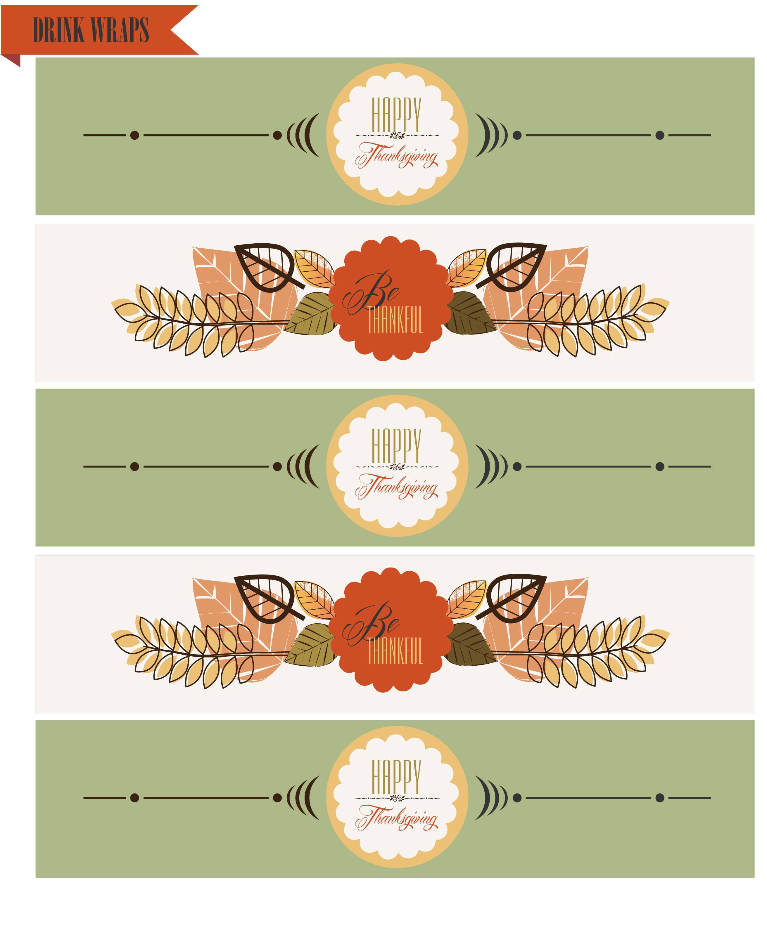 Free Thanksgiving Printables From Wcc Designs