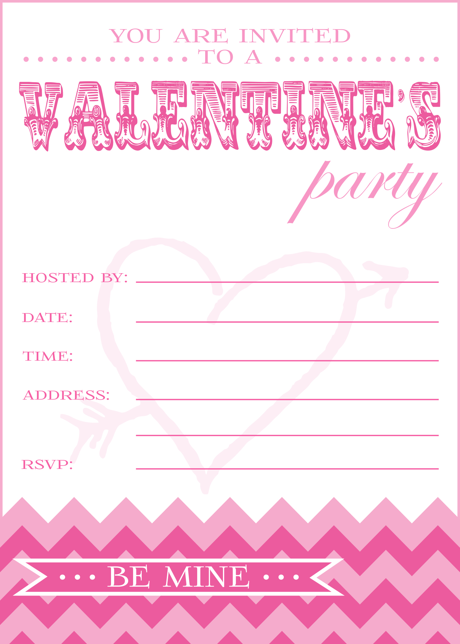Free Valentine S Day Party Printables From Pickint