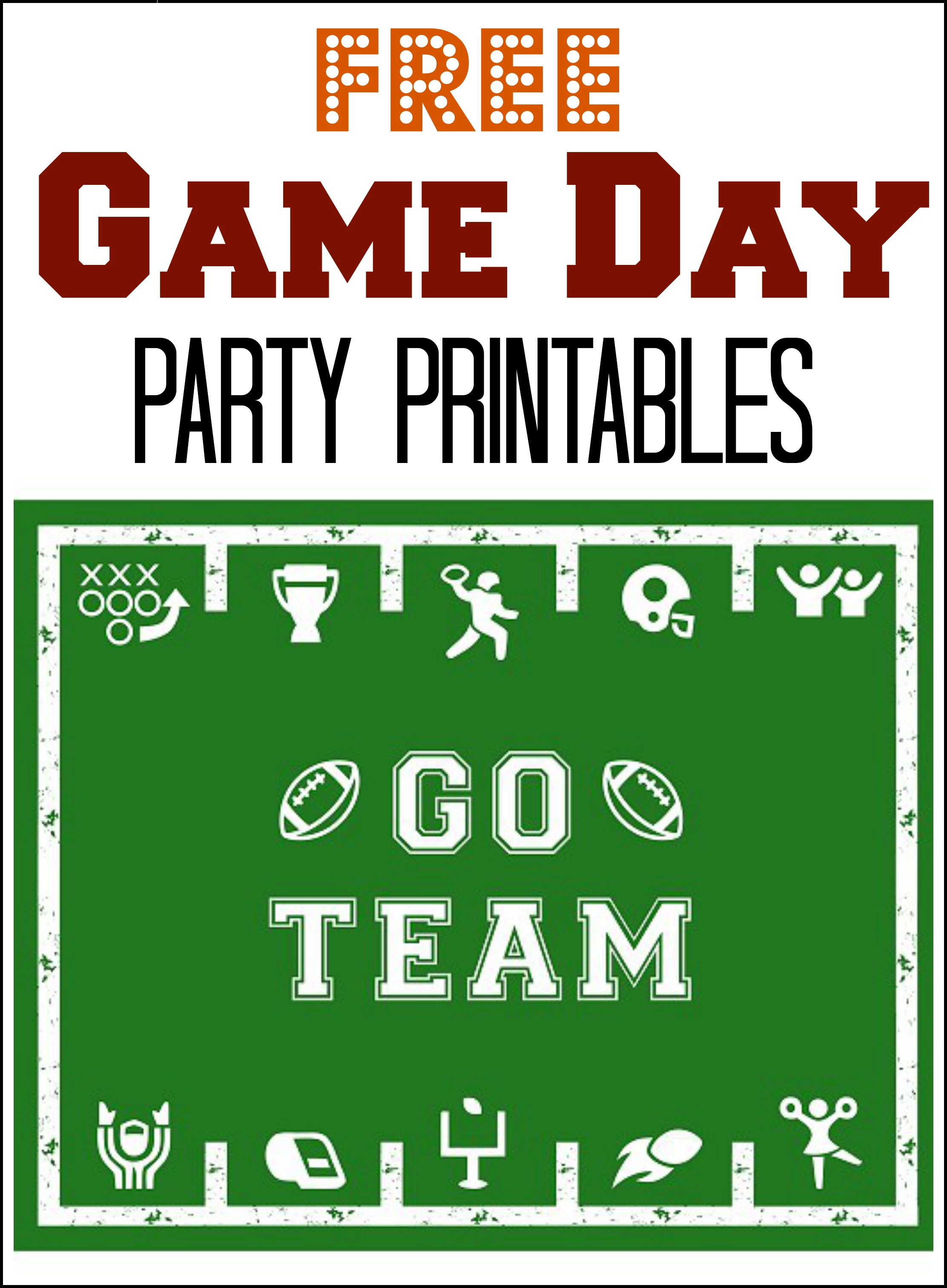 Free Printables For Game Day Parties