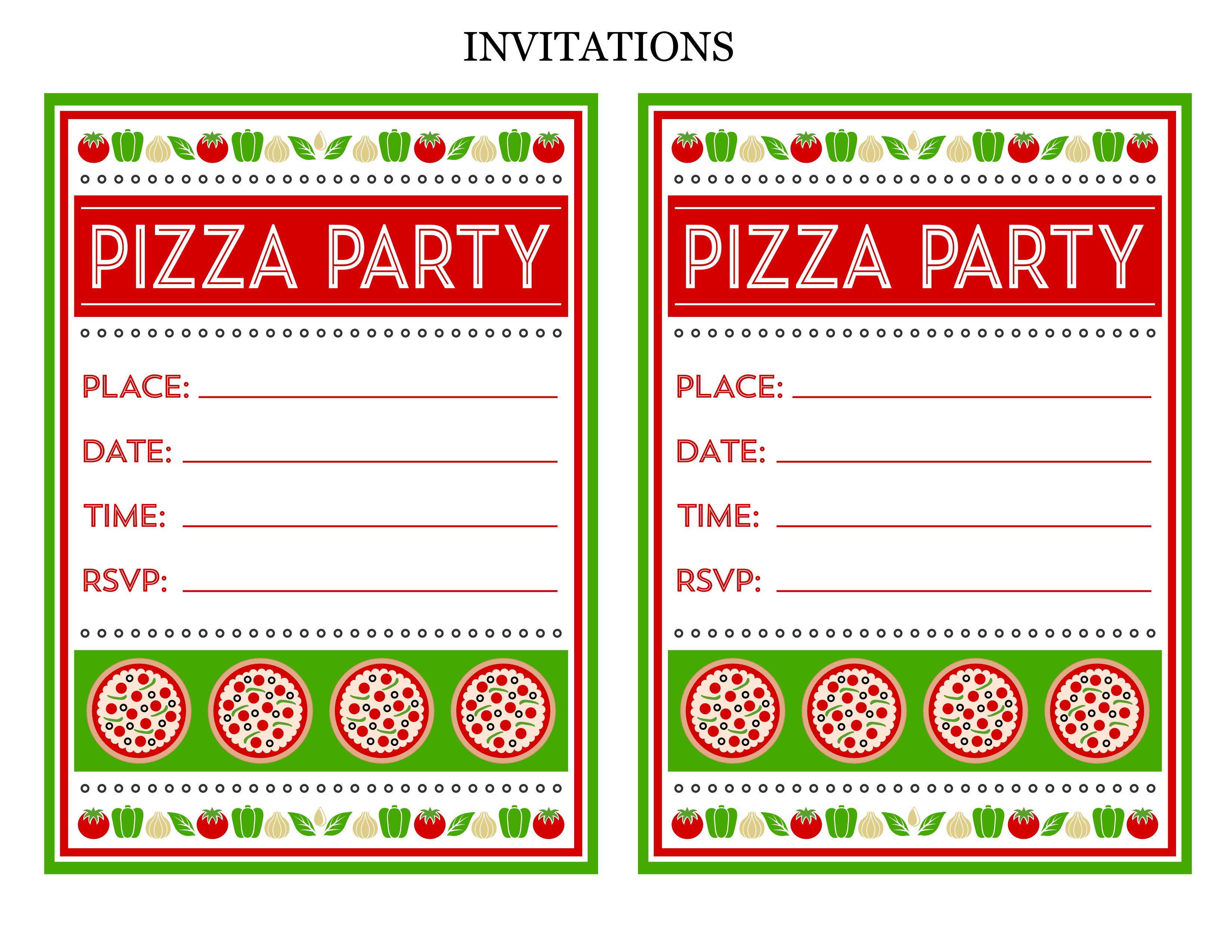 Free Pizza Party Printables