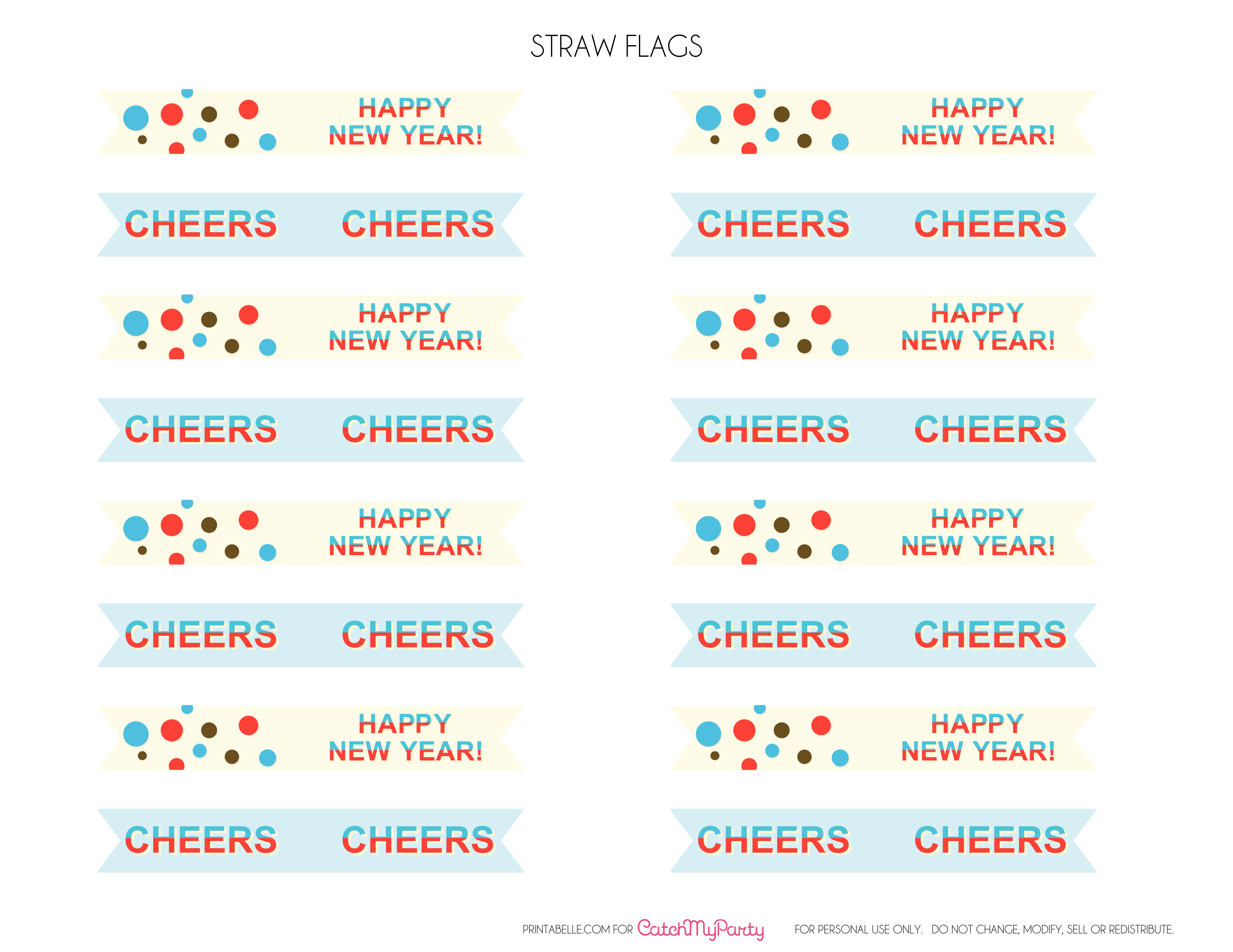 modern new year printable