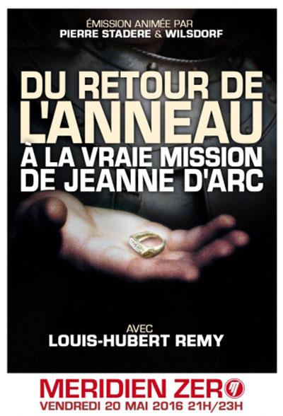 Du retour de l'anneau à la vraie mission de Jehanne d'Arc