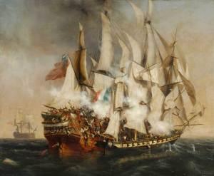 Combat naval - l'abordage du Kent de Garneray (1836), musée de La Roche-sur-Yon