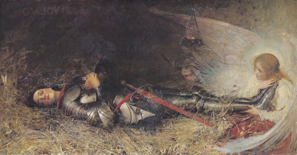 Jeanne d'Arc en prison par George William Joy