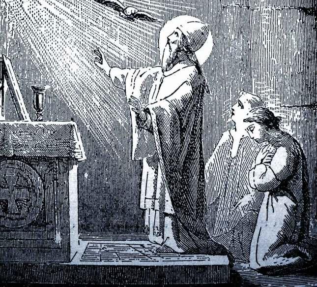 Gregory VII disant la Messe