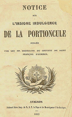 Notice sur l'indulgence de la Portioncule, 1853