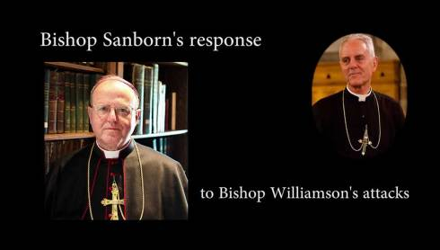 Mgr Sanborn répond aux attaques de Mgr Williamson