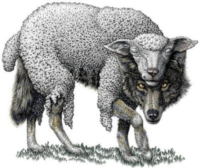 Loup déguisé en brebis