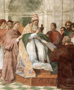 Gregory IX Approuvant les Décrétales
