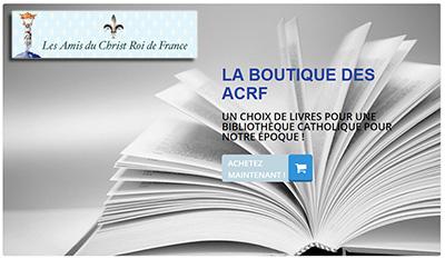 La Boutique Des ACRF en ligne