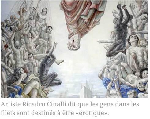 L'artiste Ricardo Cinalli dit que les gens dans les filets sont censés être «érotique».