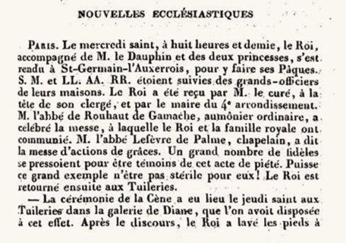 L'ami de la Religion et du Roi – 1830