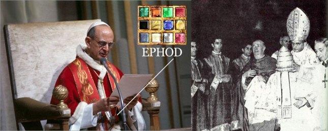 Montini avec l'Éphod, adopté aussi par les Francs-Maçons.