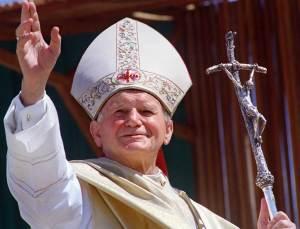 Jean-Paul II avec le Bâton pastoral de Scorzelli