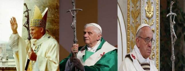La croix tordue ou cassée de Vatican d'Eux.