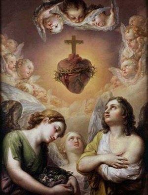 Anges adorant le Sacré-Cœur