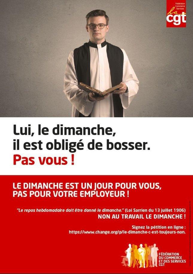 La CGT ose se servir de l'image d'un pseudo-prêtre Conciliaire pour contrer Macron !