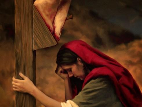 Marie, la Magdaléenne au pied de la Croix
