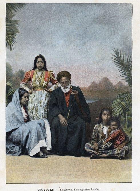 Une famille coptes au XIXème siècle - Égypte