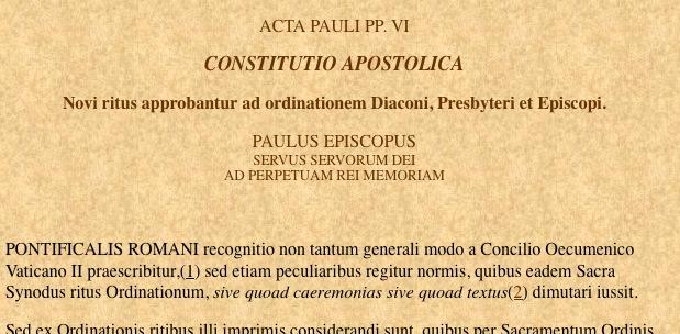 La pseudo constitution apostolique Pontificalis Romani