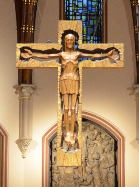 Le crucifix de la cathedral de Chicago