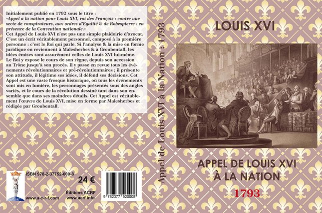 Appel de Louis XVI à la Nation : 1793