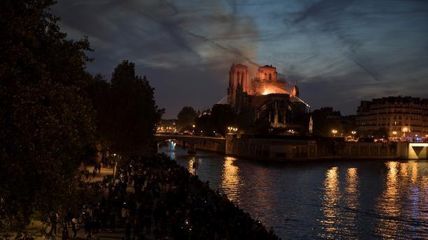 Notre-Dame de Paris en feu le 15 avril 2019