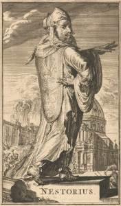 Nestorius ou Nestorios fut patriarche de Constantinople déposé par le concile d'Éphèse