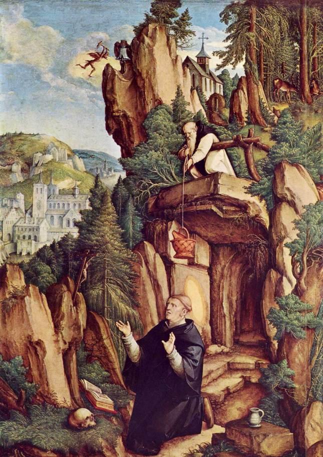 Saint Benoît en prière