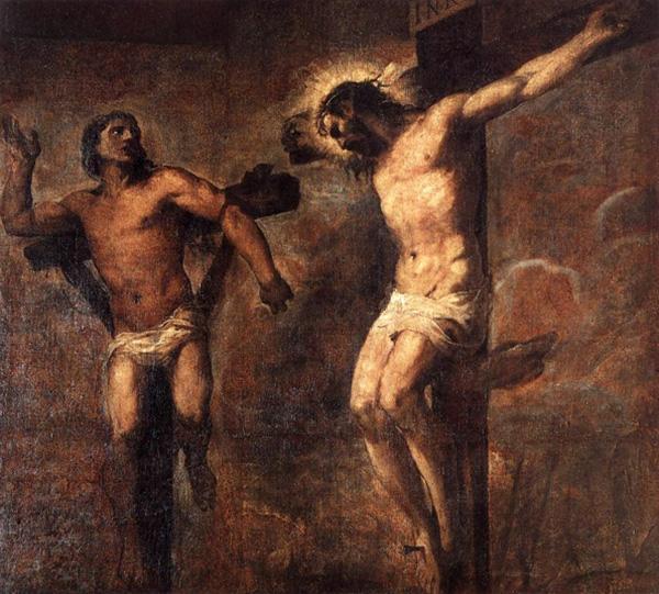 Titien : le Christ et le bon larron