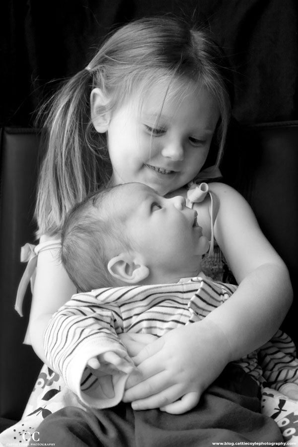 Black and white baby photos by Cattie Coyle Photography