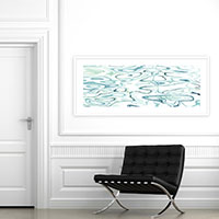 Mid Century Modern No. 3 Abstract living room wall art by Cattie Coyle Photography