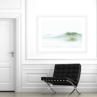 Ocean Waves No 5 - Large art print by Cattie Coyle Photography
