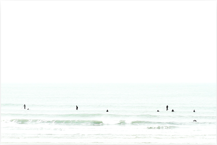 Waiting No 2 - Large Surf Photography Art Print by Cattie Coyle Photography