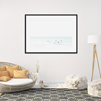 Waiting No 3 - Surfing photography living room wall decor by Cattie Coyle