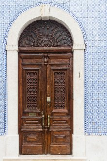 Lisbon door and tiles by Cattie COyle Photography