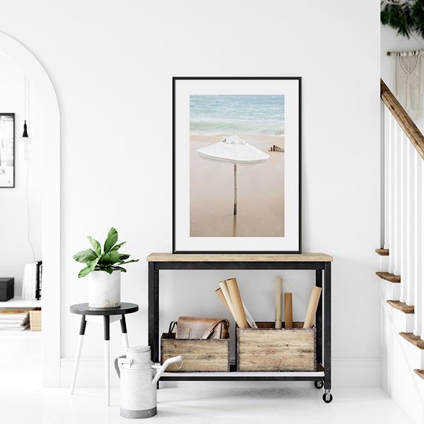 Umbrella No 1 - Beach house decor by Cattie Coyle Photography