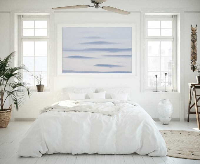 Cloud Spotting: Clouds No 1 - Abstract blue art print by Cattie Coyle Photography