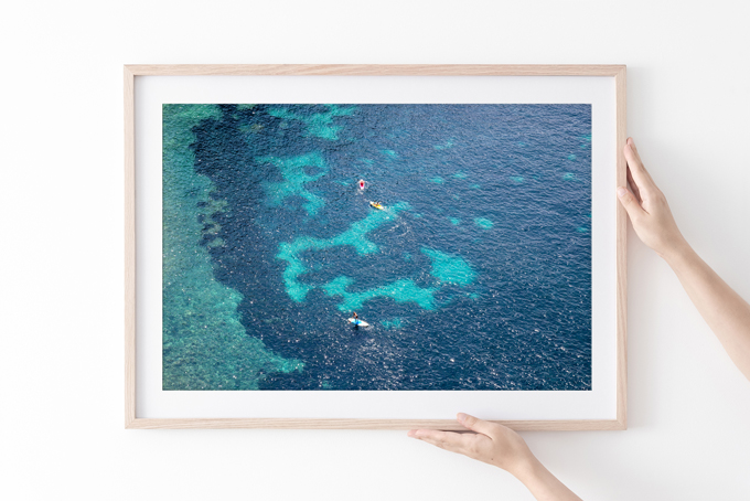 Côte d'Azur No 4 - Turquoise blue and teal color ocean art print by Cattie Coyle Photography