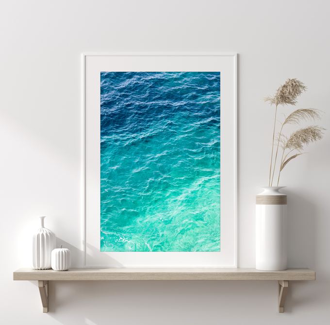Mediterranean Shades of Teal No 2 - Ombré coastal wall art by Cattie Coyle Photography