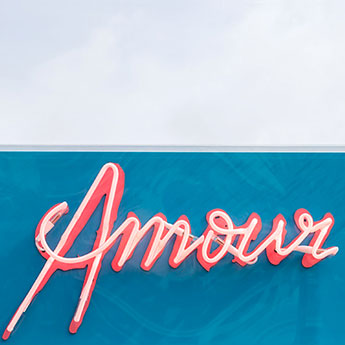 Amour - French Riviera art print by Cattie Coyle Photography