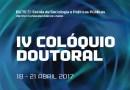 IV Colóquio Doutoral da Escola de Sociologia e Políticas Públicas