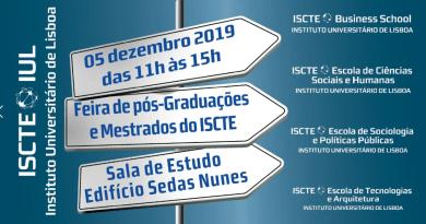 5 DEZ   Feira de Mestrados e Pós-Graduações do ISCTE-IUL