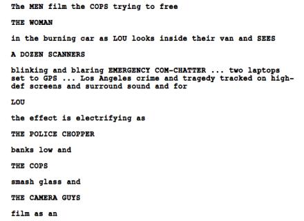 action script writing nightcrawler