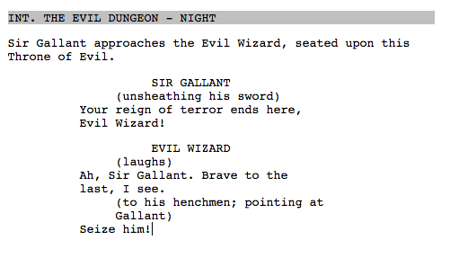 writing action scenes in spec scripts