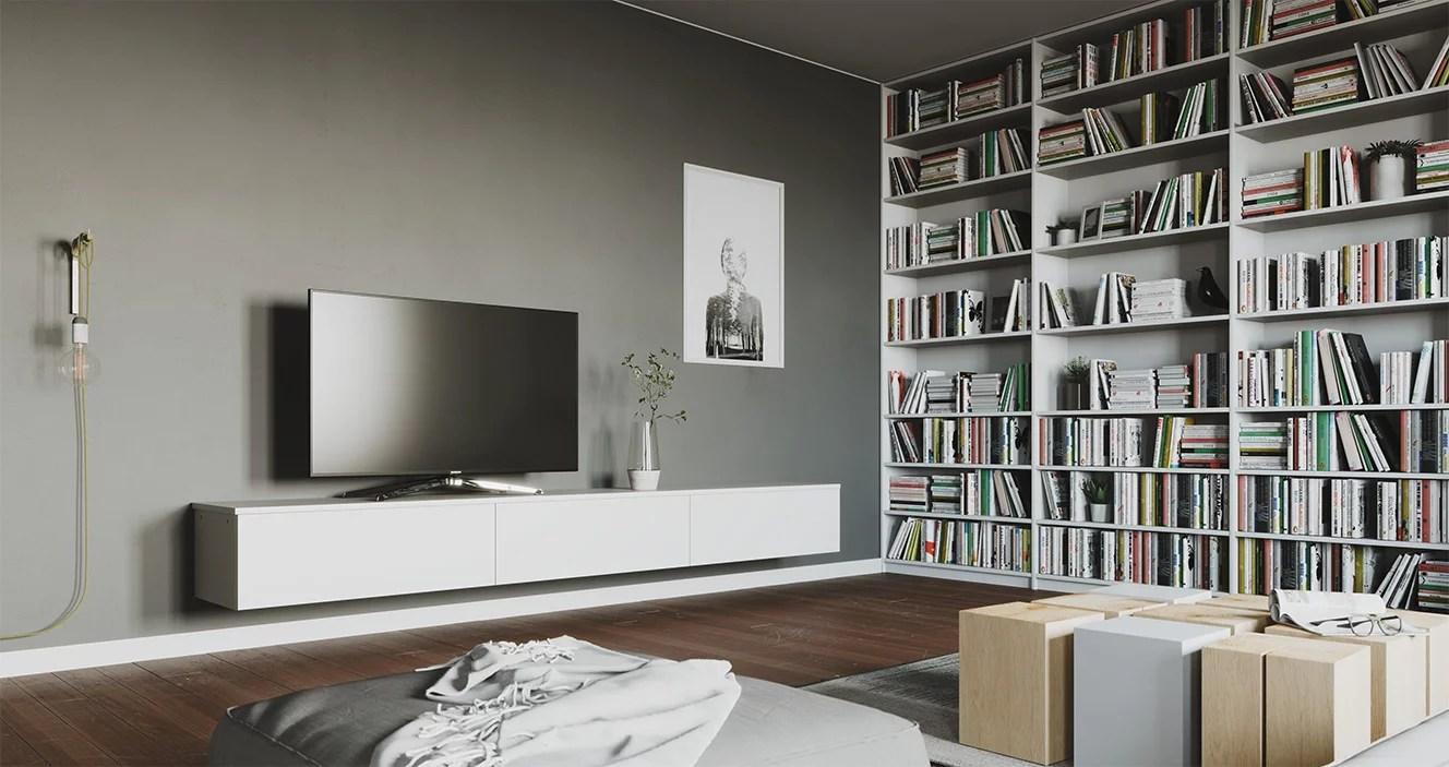 fils derriere un meuble tv