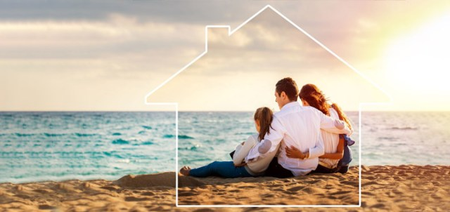 playa familia casa