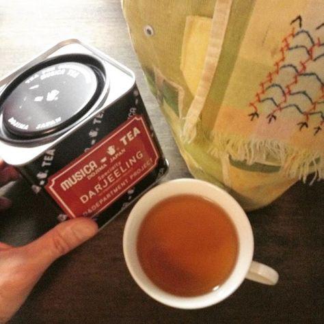 紅茶がね、香りよく入ると嬉しいよね。 #teatime  #ダージリン #紅茶 (Instagram)